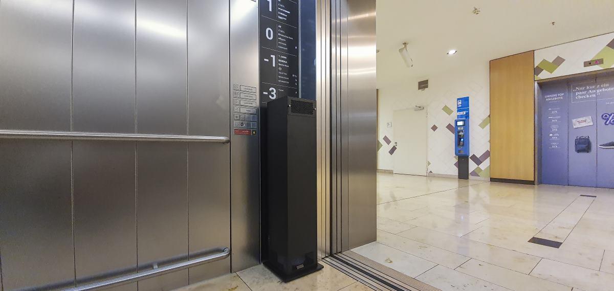 UV-C Entkeimung Luftfilter Aufzug Öffentliche Gebäude Valoair