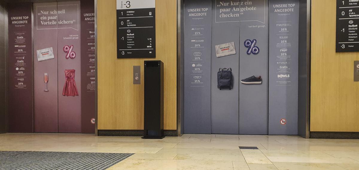 UV-C Entkeimung Shopping Center